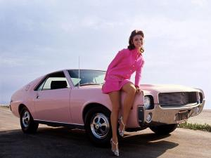 AMC AMX Playmate Pink 1968 года