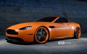 Aston Martin V8 Vantage Roadster on D2Forged Wheels 2014 года
