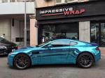 Aston Martin Vantage Ice Blue Chrome by Impressive Wrap 2016 года