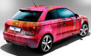 Audi A1 Art Car by Damien Hirst 2011 года
