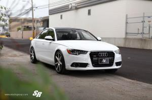 2012 Audi A6 3.0T Quattro Sedan by SR Auto Group on Vossen Wheels