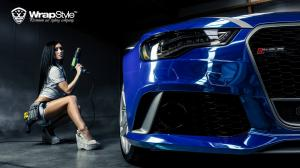 2014 Audi RS6 Avant Joker Blue Chrome by WrapStyle