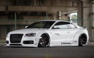 Audi A5 Coupe by Liberty Walk on Rotiform Wheels 2016 года