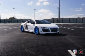Audi R8 V10 GT by EVS Motors on Vossen Wheels (VPS-305T) 2016 года