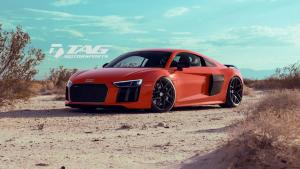 Audi R8 V10 Plus in Dynamite Red by TAG Motorsports on HRE Wheels (R101) 2016 года