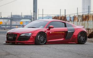 Audi R8 by Liberty Walk on Forgiato Wheels (MAGLIA-ECL) 2016 года
