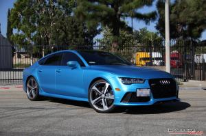 Audi RS7 Sportback in Satin Ocean Shimmer by Impressive Wrap 2016 года