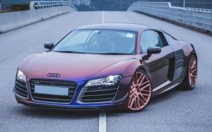 Audi R8 V10 Avery Colorflow Series by Impressive Wrap on Savini Wheels (BM13) 2017 года
