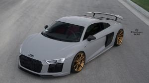 Audi R8 V10 Plus Nardo Gray by R1 Motorsport on ADV.1 Wheels (ADV10 M.V2 CS) 2017 года