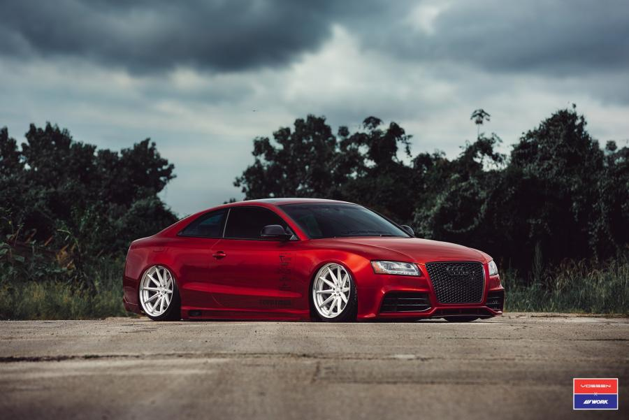Audi S5 Coupe X Work on Vossen Wheels (VWS-1)