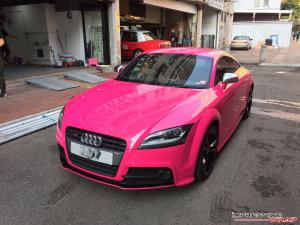 Audi TTS Gloss Pink by Impressive Wrap