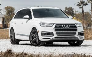 Audi Q7 3.0T Quattro White on Vossen Wheels (HF-1)