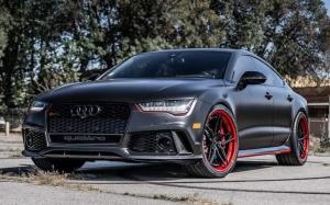 Audi RS7 Sportback Satin Black by Impressive Wrap 2018 года