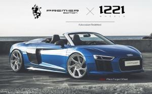 Audi R8 V10 Spyder on Premier Edition Wheels (CSD-F) 2019 года