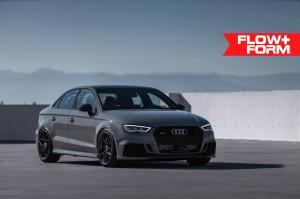 2019 Audi RS3 Sedan Nardo Gray on HRE Wheels (FF11)