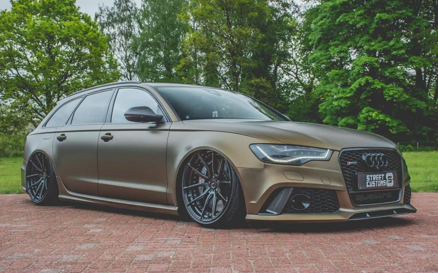 2019 Audi RS6 Avant Matte Brown by Street Customs on ADV.1 Wheels (ADV5.0 M.V2 CS)