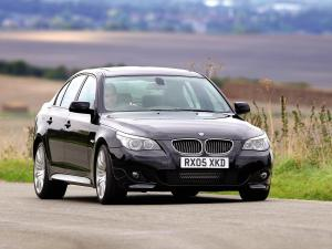BMW 540i with M Sport package (UK) '2006