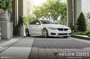BMW 435i on Velos Designwerks Wheels 2014 года