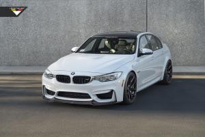 BMW M3 Snow White by Vorsteiner 2014 года