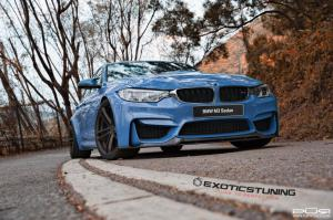BMW M3 Sedan Yas Marina Blue by ReinArt Design on PUR Wheels 2015 года