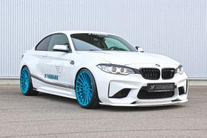 2016 BMW M2 Coupe on Blue Wheels by Hamann