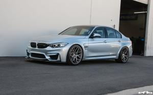 2016 BMW M3 Sedan in Silverstone Metallic by EAS