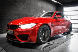BMW M4 Coupe 3.0 Bi-Turbo in Red by Mcchip-DKR 2016 года