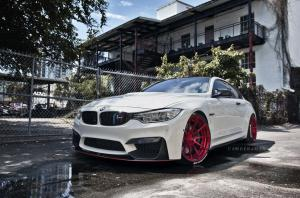 BMW M4 Coupe Alpine White on ADV.1 Wheels (ADV10 M.V2 CS) 2016 года