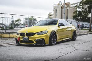 BMW M4 Coupe Austin Yellow on Brixton Forged Wheels (R10D) 2016 года