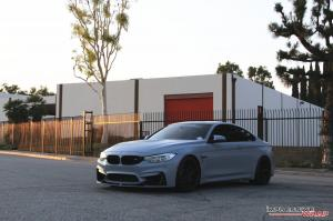 BMW M4 Coupe Battleship Gray by Impressive Wrap 2016 года