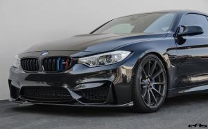 BMW M4 Coupe Black Sapphire Metallic by EAS on Vorsteiner Wheels (V-FF 102) 2016 года