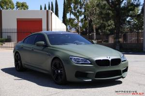 2016 BMW M6 Gran Coupe in Matte Military Green by Impressive Wrap