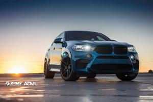 BMW X6 M Long Beach Blue by TAG Motorsports on ADV.1 Wheels (ADV005 DEEP CONCAVE CS) 2016 года