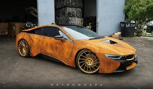 BMW i8 Austin Mahone Rusted by MetroWrapz 2016 года