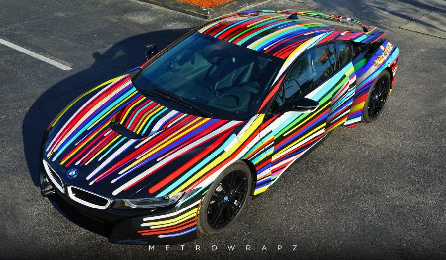 BMW i8 Jeff Koons Tribute Art Car by MetroWrapz