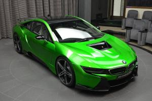 BMW i8 in Lava Green by AC Schnitzer and Abu Dhabi Motors 2016 года
