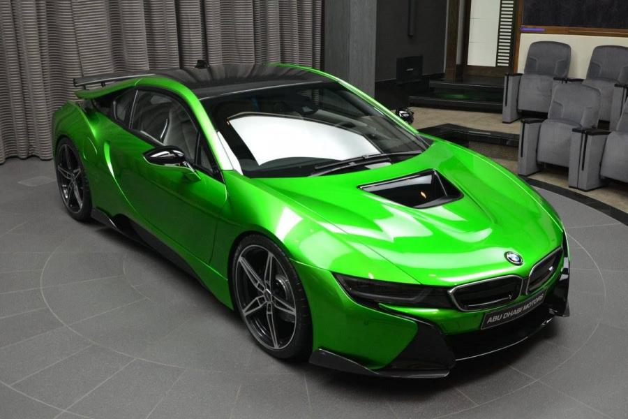 BMW i8 in Lava Green by AC Schnitzer and Abu Dhabi Motors