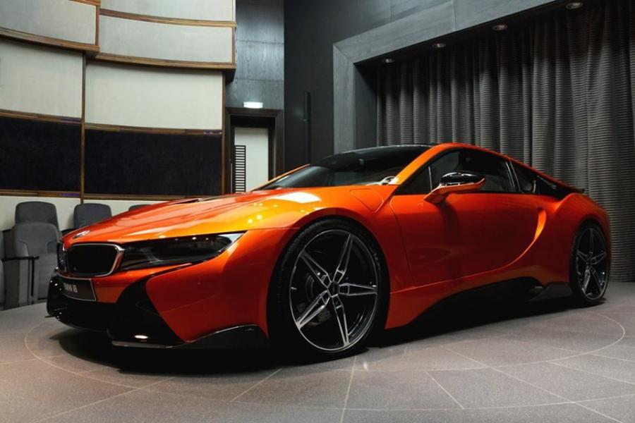 Bmw I8 In Orange By Ac Schnitzer And Abu Dhabi Motors 2016 года Vercity