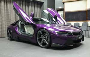 2016 BMW i8 in Twilight Purple by AC Schnitzer and Abu Dhabi Motors