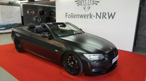 BMW 335i Convertible Satin Black by Folienwerk-NRW 2017 года