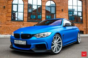 2017 BMW 4-Series Matte Blue on Vossen Wheels (CVT)