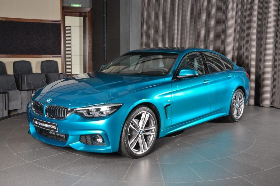 BMW 420i Gran Coupe M Performance in Snapper Rocks Blue by Abu Dhabi Motors