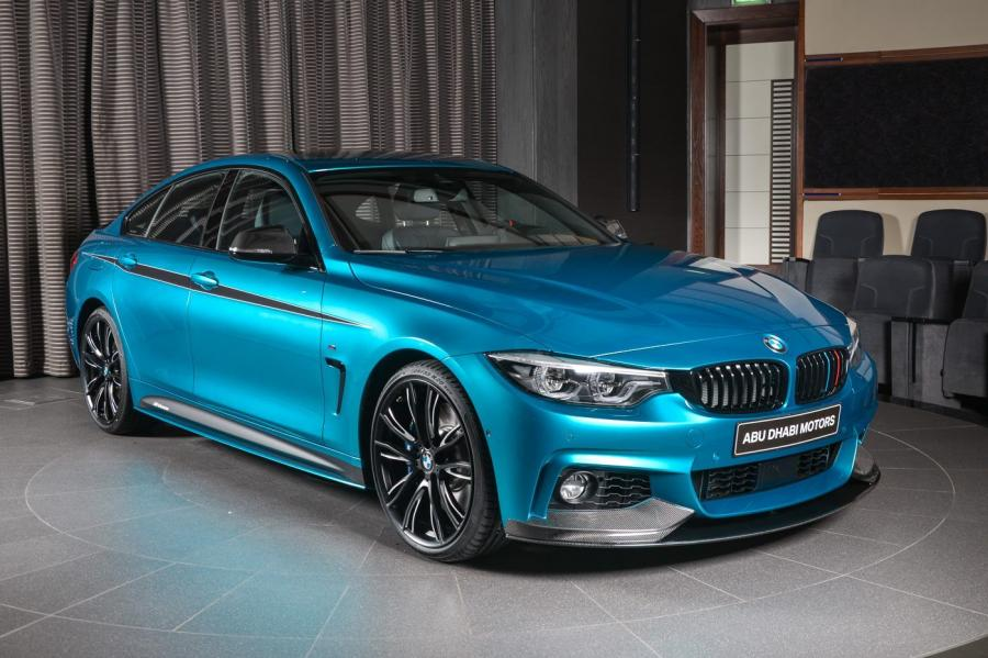 BMW 440i Gran Coupe in Snapper Rocks Blue M Performance by Abi Dhabi Motors