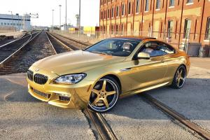 2017 BMW 6-Series Coupe Gold on Forgiato Wheels (Aggio-B)