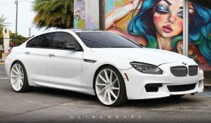 2017 BMW 650i Gran Coupe Matte White by MetroWrapz