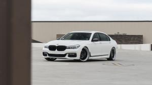 BMW 740iL Alpine White by R1 Motorsport on ADV.1 Wheels (ADV15 TRACK FUNCTION) 2017 года