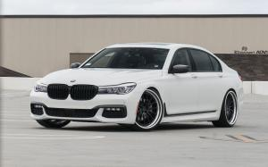 BMW 740iL Alpine White by R1 Motorsport on ADV.1 Wheels (ADV15 TRACK FUNCTION)