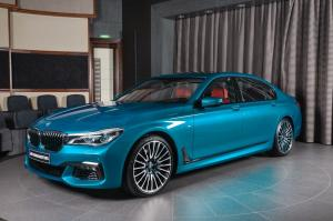 BMW 750Li xDrive Individual in Atlantis Blue by Abu Dhabi Motors