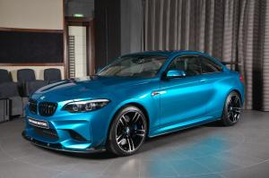 BMW M2 Coupe in Long Beach Blue by 3D Design and Abu Dhabi Motors 2017 года