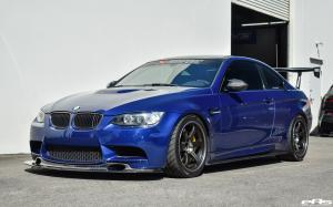2017 BMW M3 Coupe Le Mans Blue by EAS on Volk Wheels (TE37SL)
